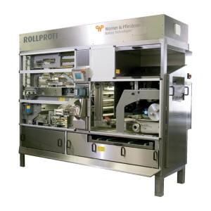 Компактная установка для производства булочек с надрезкой с интегрированной головной делительно-округлительной машиной ROLLPROFI